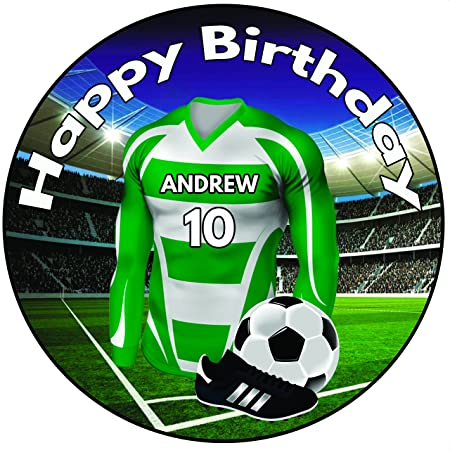 Personalizado camiseta de fútbol decoración para tarta para ...