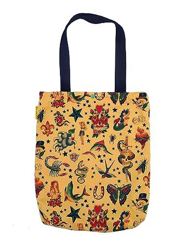 Bolsa Tote Bag Tattoos, Bolso tote de algodón, Bolso Tote ...