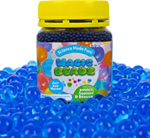 Magic Beadz - Blue Gel Water Beads - Transparent Jelly Pearls - Vase Filler - Wedding Centerpiece - Candles - Flower Arrangements - Over 20,000 Beads
