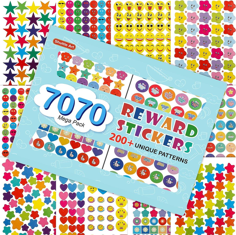 1120 Count Star Label Stickers 7 Color 3//4 inch Mini Star Sticker Reward Chart Star Stickers for Kids Teachers Classroom