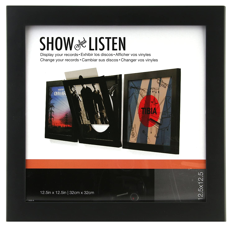 Amazon.com: SNAP Show & Listen Art Vinyl Record Display Frame, Black ...