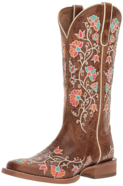 eeebad00206 Ariat Women's Carmelita Western Cowboy Boot, Bitter The Dust Brown ...