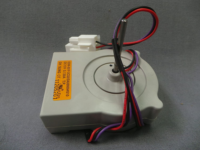 Lg 4681JB1027C Refrigerator Evaporator Fan Motor Genuine Original Equipment Manufacturer (OEM) Part
