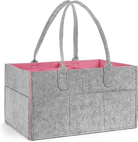 Organizador para pañales de almacenamiento para bebé: bolsa para pañales o papelera para un coche o guardería
