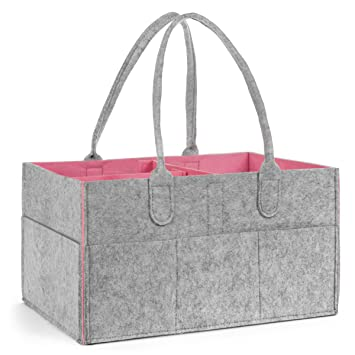 Diaper Caddy, Nursery Storage Organizer, Portable Changing Table Basket  Great Bin For Baby Girls