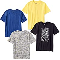 3b80187c Amazon Brand - Spotted Zebra Boys' 4-Pack Short-Sleeve T-Shirts