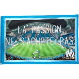 Drapeau OM - Collection officielle Olympique de MARSEILLE - Taille 100x150 cm