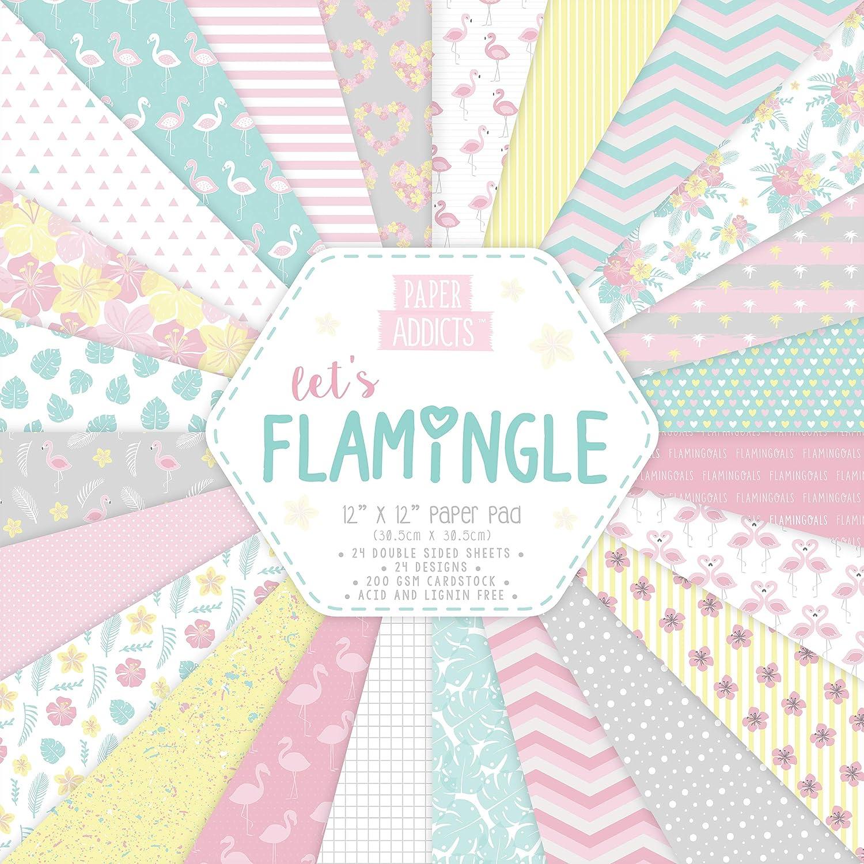 Carta Addicts Let's Flamingle 12 x 12 Trimcraft PAPAD013