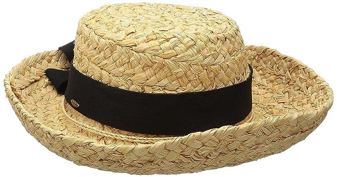 SCALA Women s Raffia Hat with Herringbone Bow 266432949172