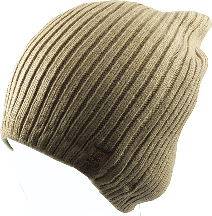 29497aa45cd Revive Online Men s Over  Slouch  Beanie Hat One Size Beige at ...