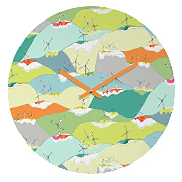 Round Windy Country Deny Designs Betsy Olmsted Round Clock 12 12 17208-roucls