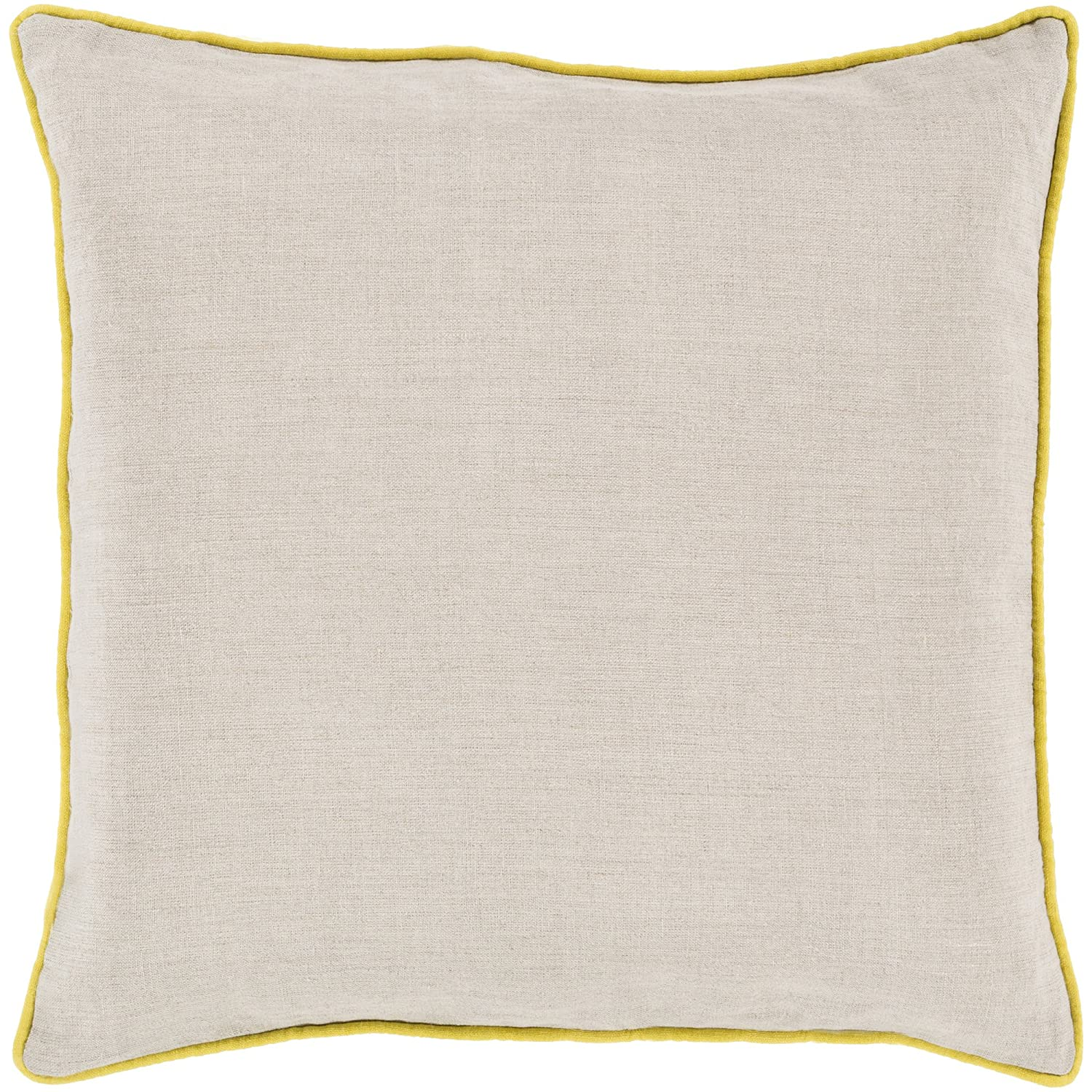 Surya Rug LP003-2222P Square Beige Decorative Poly Fiber Pillow 22 x 22 in. 22-Inch by 22-Inch  B00H2KGSZ2