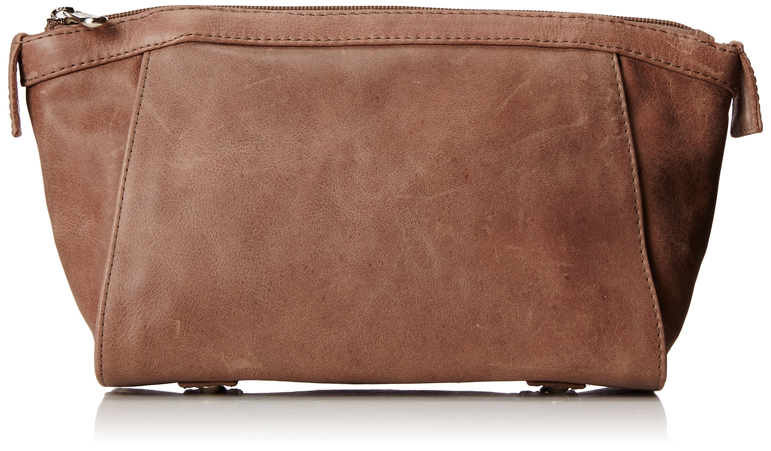 Piel Leather Zippered Travel Kit, Toffee, One Size