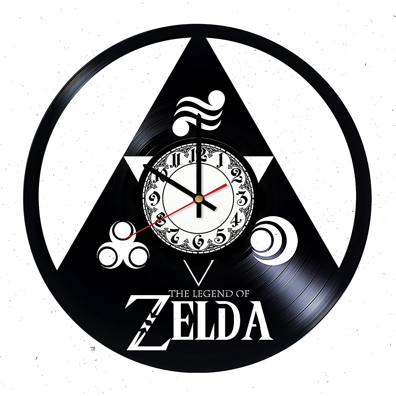 The Legend of Zelda Triforce Handmade Vinyl Record Wall Clock - Get unique room wall decor - Gift ideas for his and her – Modern Unique Home Art Design
