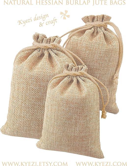 Party Hessian//Burlap//Jute Gift Bag//Sack Birthday,Wedding Christmas