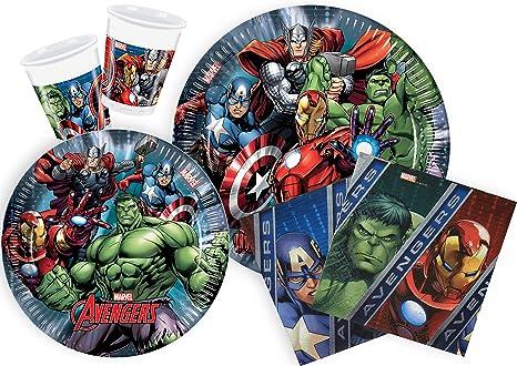 Ciao Y2509 Party-Juego de Mesa de Fiesta Marvel Avengers Para ...