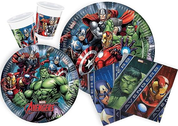 Ciao Y2509 Party-Juego de Mesa de Fiesta Marvel Avengers Para Personas 24 Piezas, 112: Amazon.es: Juguetes y juegos