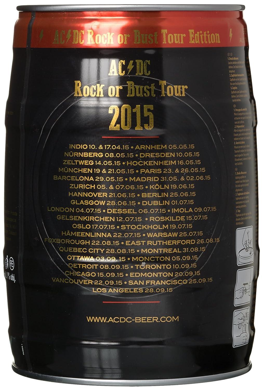 AC/DC Bierfass (1 x 5 l): Amazon.de: Bier, Wein & Spirituosen