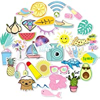 Vsco Stickers Pack (35pc) for Hydro Flask,Vsco Girls Stuff,Cute Waterproof Trendy Stickers for Teens, Water Bottle,Laptop,Phone,Travel Durable Vinyl
