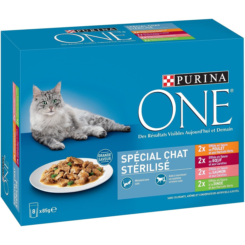 Purina One Spécial Chat Stérilisé - 8 x 85 g - Sachets Fraîcheur pour Chats Adultes - Lot DE 10 Purina One Chat 12301547