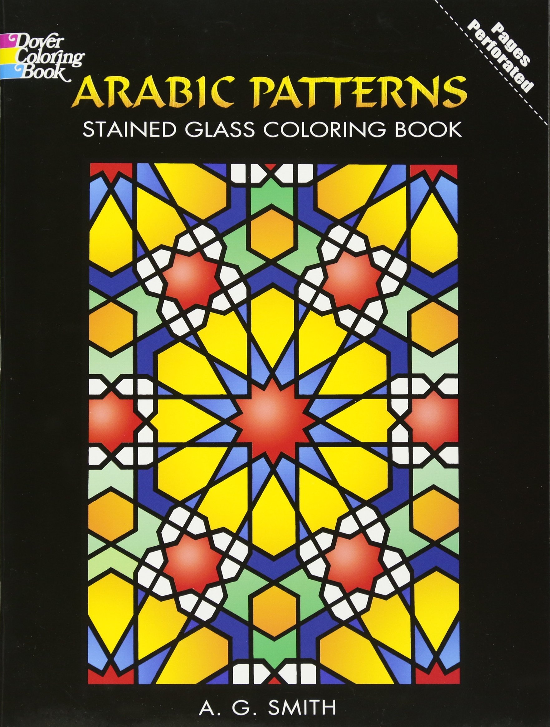 Arabic Patterns Stained Glass Coloring Book Dover Design Stained