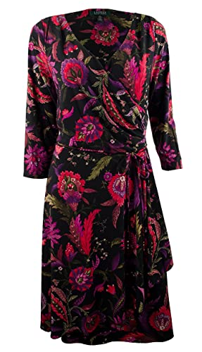 Lauren Ralph Lauren Long Sleeve Jersey Wrap Dress Multi