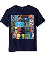 Star Wars Big Boys' Cartoon Geometric Character Groupage Graphic Tee