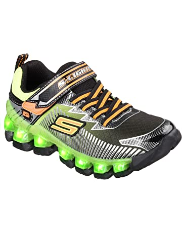ee19c8ccbc5b8 Skechers Kids Flashpod Gore And Strap Light Up Sneaker