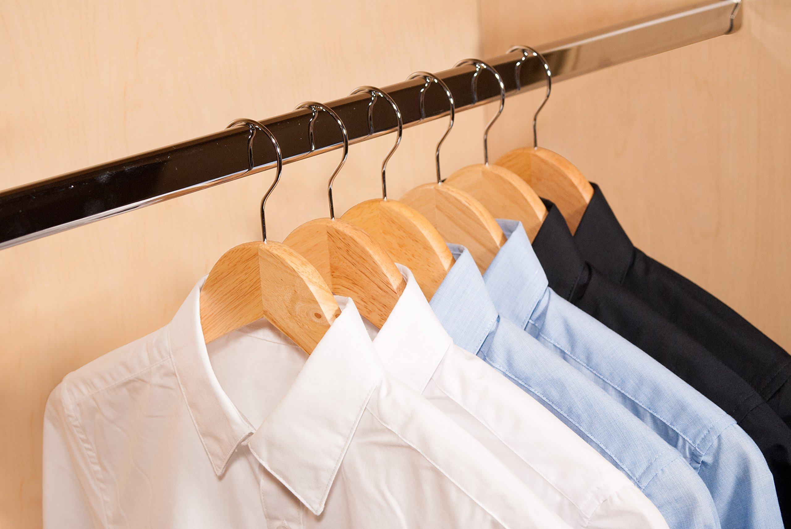 Topline Classic Wood Suit Hangers - 20 Pack (Natural Finish) by Topline (Image #8)