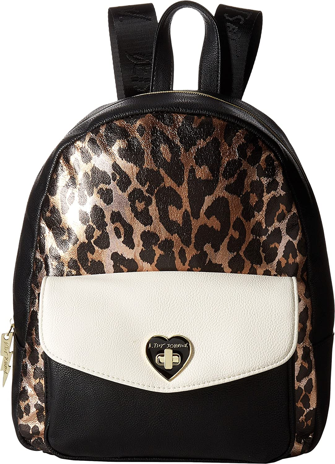 Betsey Johnson Turnlock Backpack Cheetah One Size