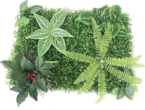 jarown artificiales pared plantas Artificial hierba flores para jardín fondo pared decoración: Amazon.es: Hogar