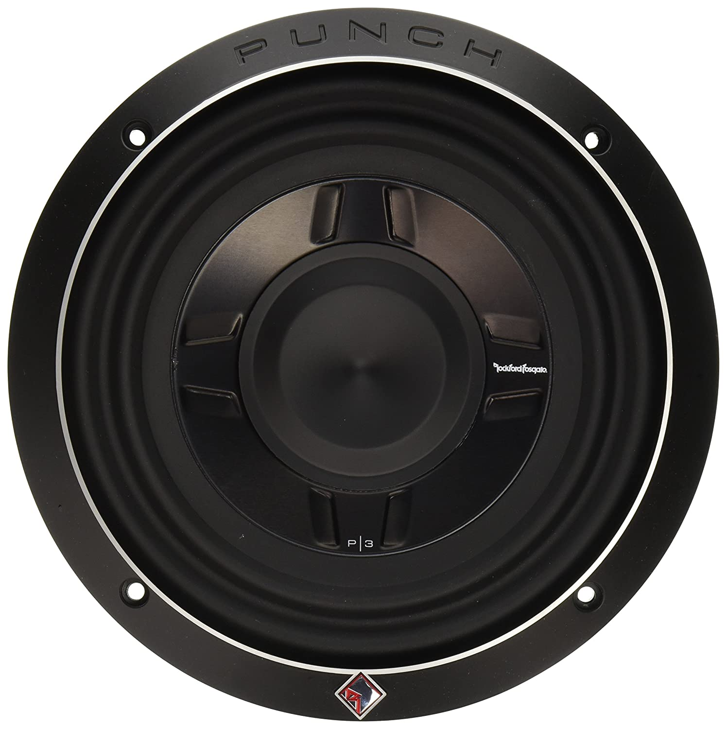 """Rockford Fosgate 8"""" Dual 2-Ohm Punch Series Shallow Mount Car Subwoofer"""