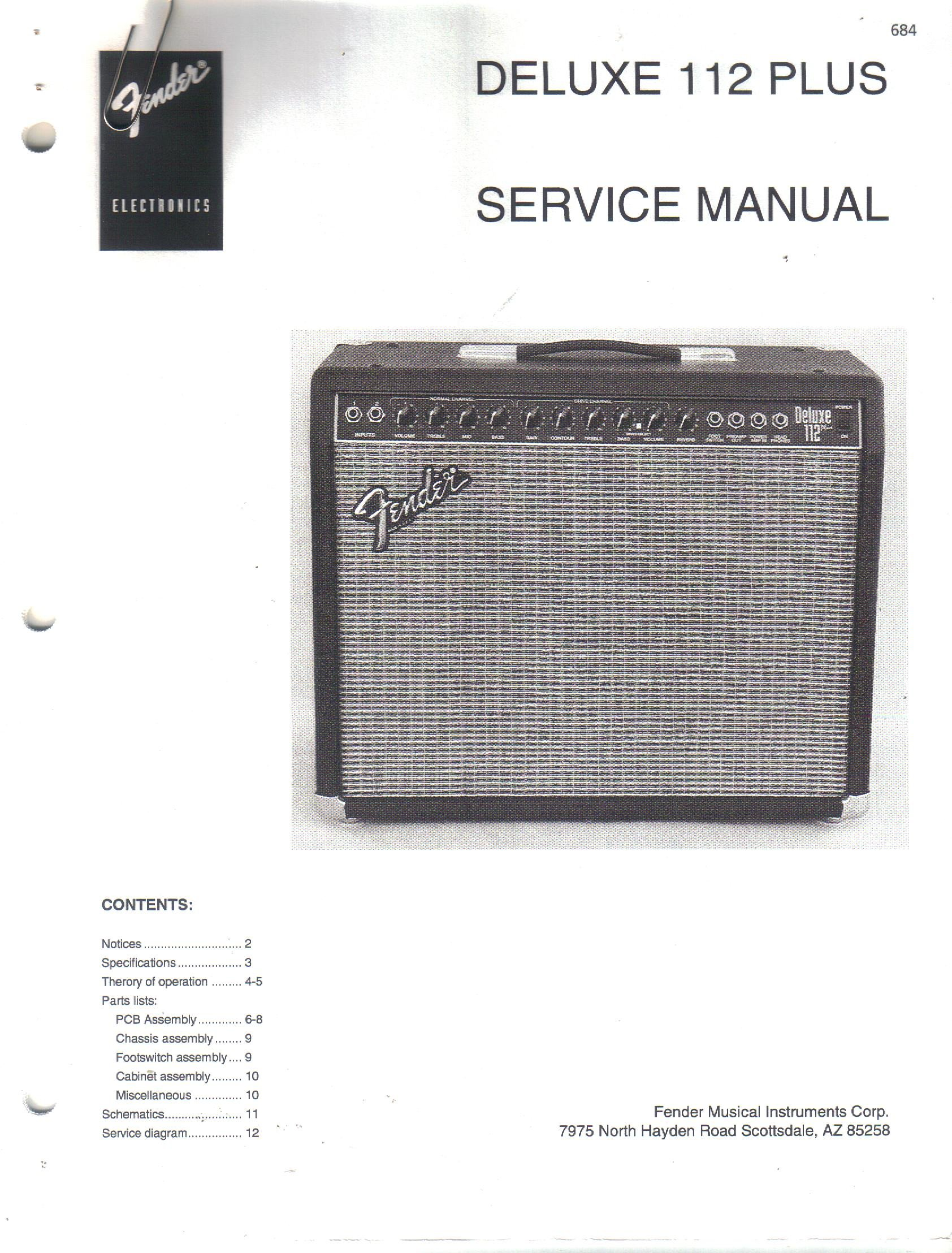 Fender deluxe 112 plus guitar amplifier amp service manual repair fender deluxe 112 plus guitar amplifier amp service manual repair guide fender electronics sunn amazon books freerunsca Choice Image