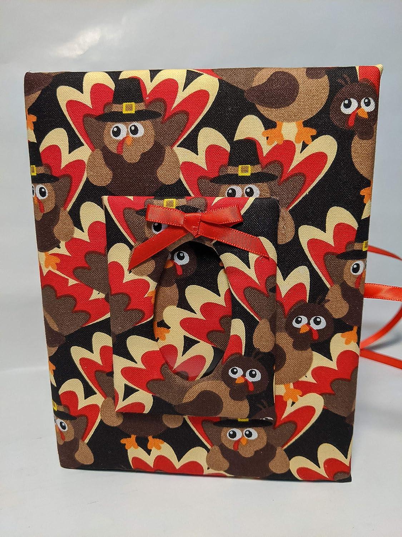 Thanksgiving Photo Album Personalize Holds 100 4x6 Photos Turkey Photo Album