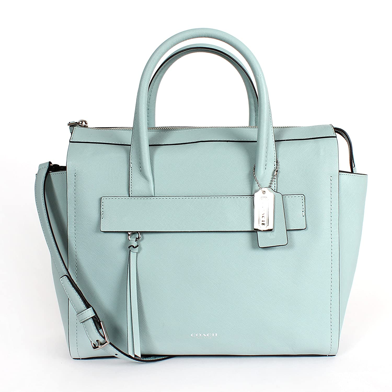 1901e37b5b free shipping coach bleecker riley carryall in saffiano leather duck egg  blue 30149 handbags amazon f7b56