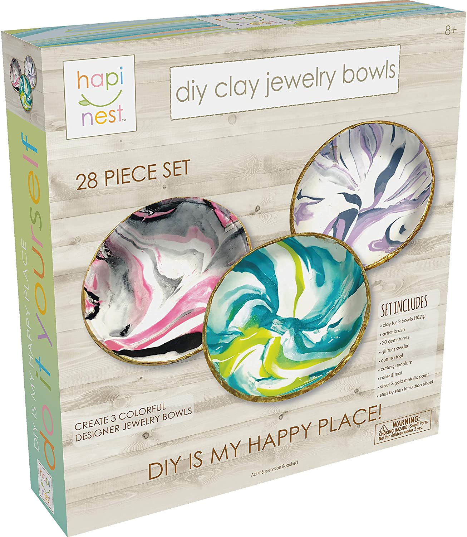 Home Decor Hand Painted Small Trinket Dish Beach Hut Jewellery Dish Nautical Gift Anchor Handmade Clay Dish Coastal Inspired