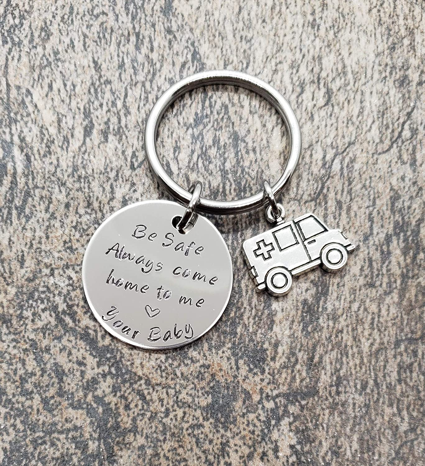 Paramedic Be Safe Gift Paramedic Be Safe Keychain with Ambulance Always Come Home to Me
