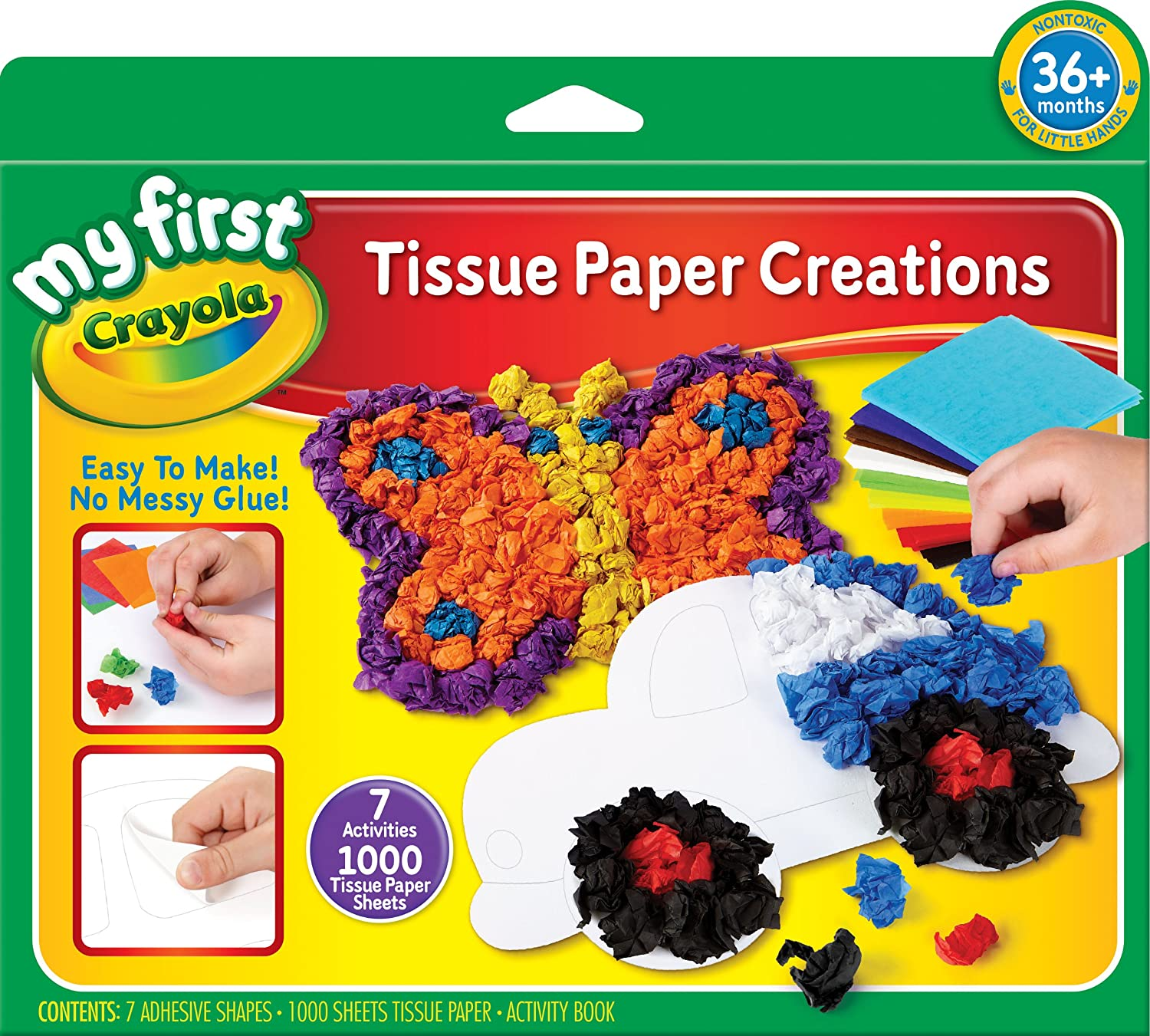 Amazon Crayola My First Tissue Paper Creations Art Tools 7 Activities Toys Games