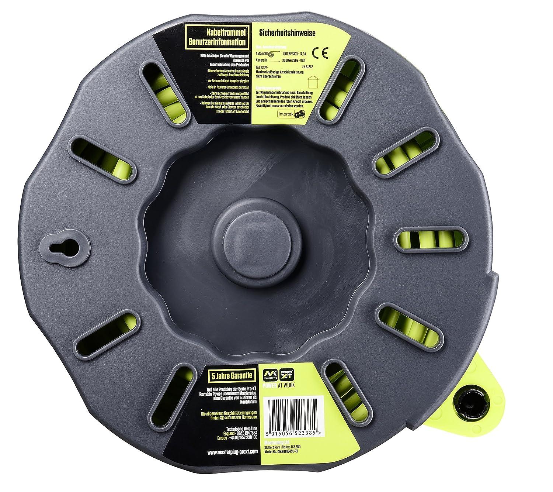 Masterplug CMG08164SL-PX base m/últiple Interior 8 m 4 salidas AC Gris Interior, 8 m, 4 salidas AC, Gris, Amarillo, PVC, EN 61242 Amarillo Bases m/últiples