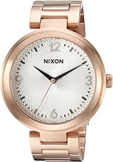 Nixon Womens Chameleon Quartz Stainless Steel Watch, Color:Rose Gold-Toned
