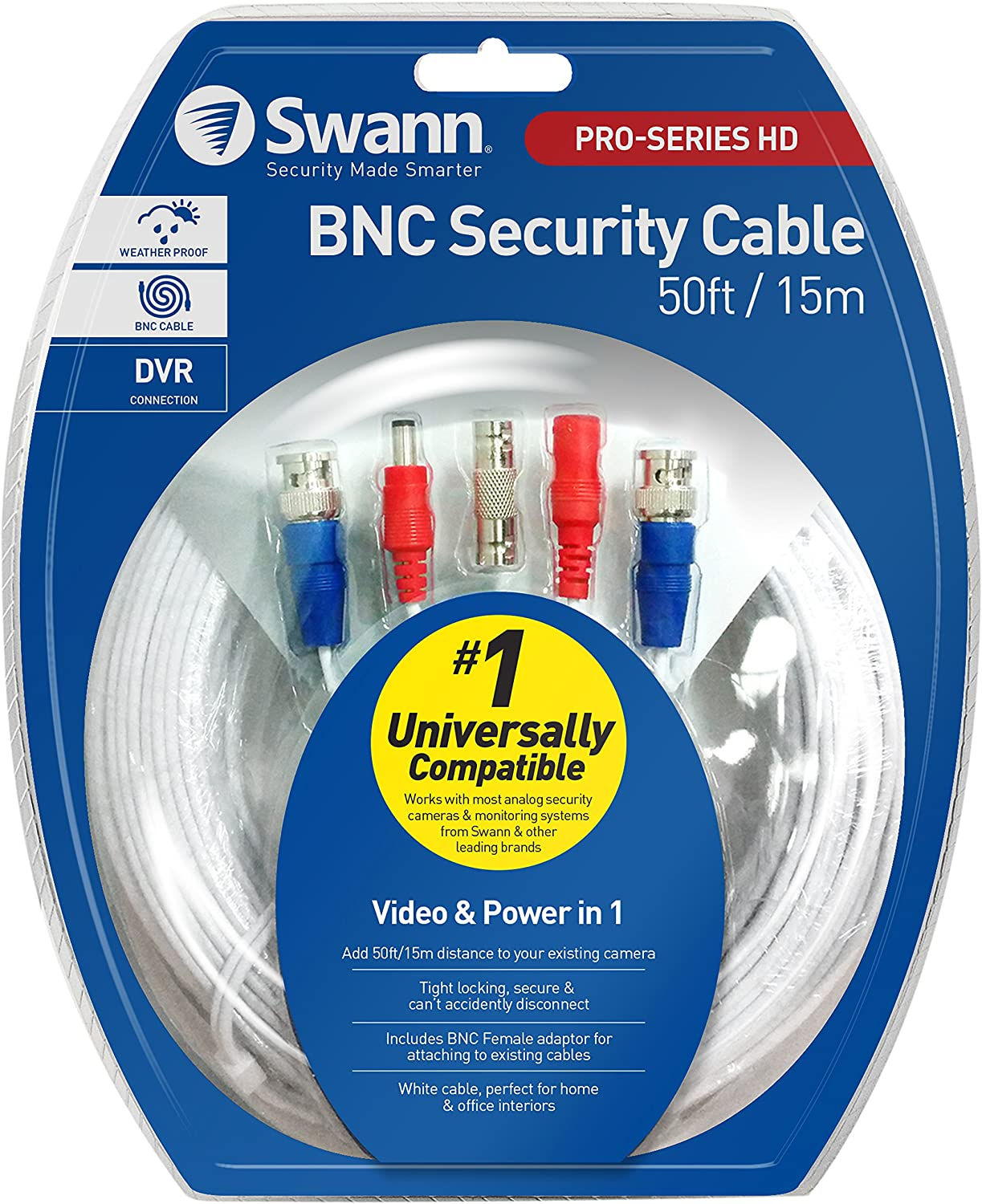 Lot of 9x Genuine Swann 50ft Security Camera Cables