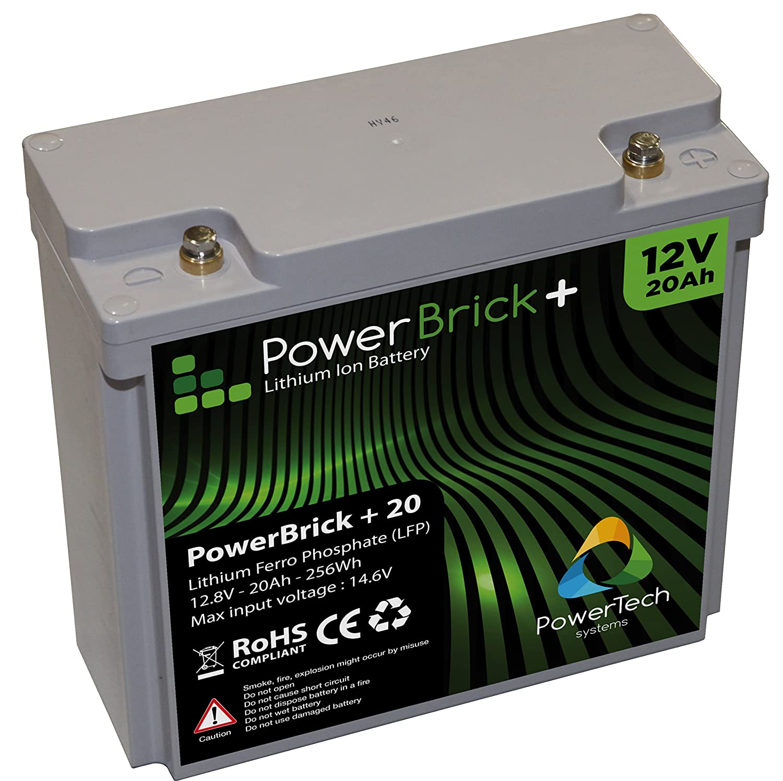 Batería de litio 12V 20Ah Fosfato de litio y hierro LiFePO4: Amazon.es: Industria, empresas y ciencia