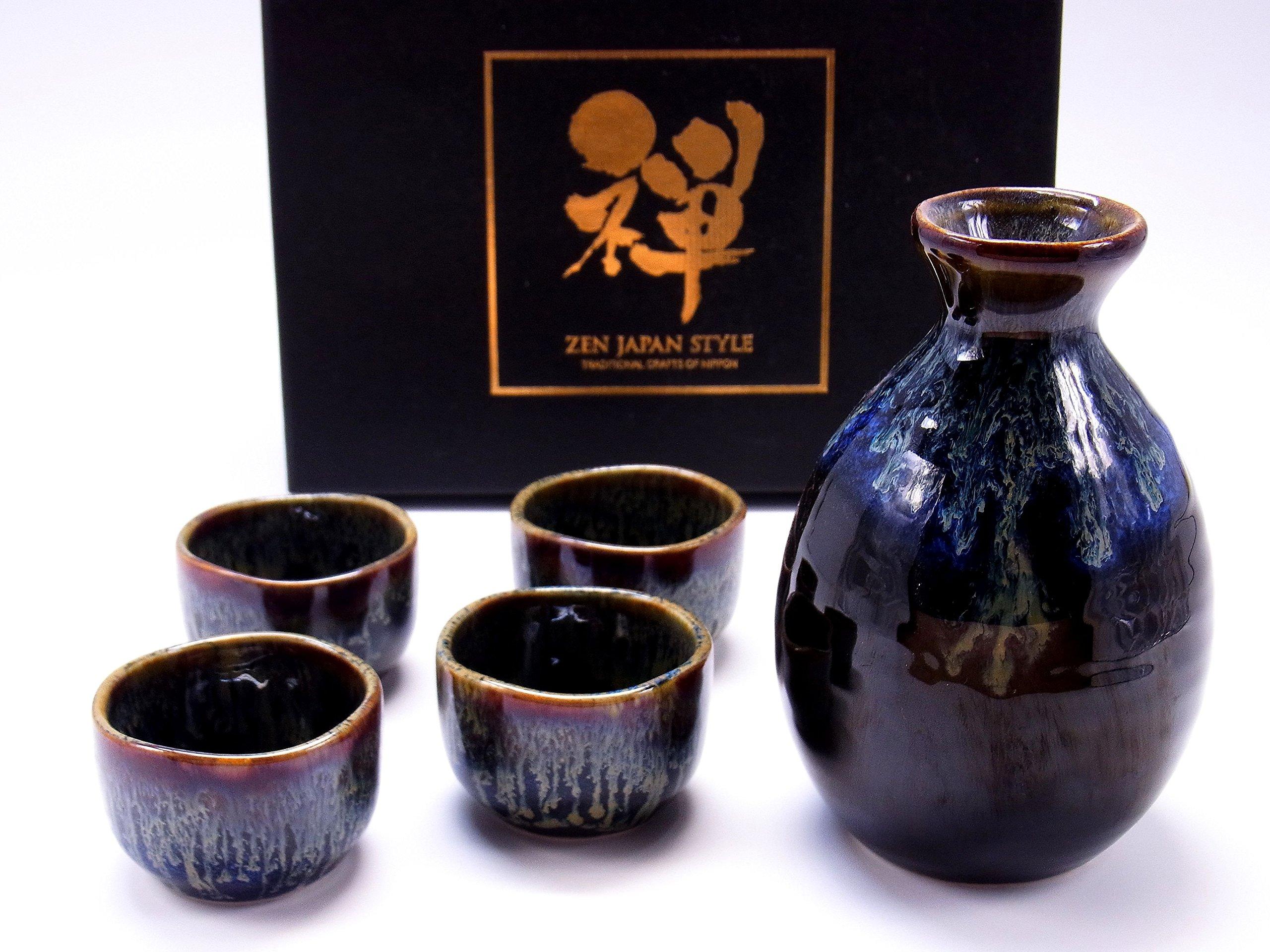 Sake Set Tokkuri Guinomiset Made in japan 5 piece set (10058)