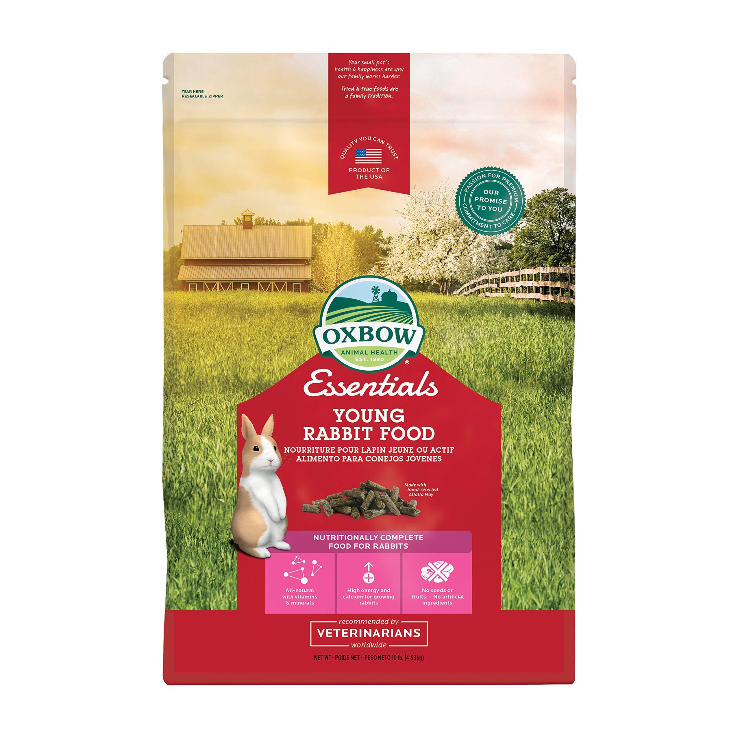 Oxbow Essentials Bunny Basics - Young Rabbit Food - Alfalfa Hay - 10 Lbs by Oxbow