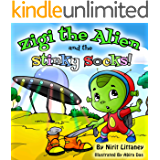 Children's book: Zigi the Alien and the Stinky Socks. Bedtime story for kids, Kids fantasy book, Early readers, Beautiful illustrated picture book for ... ages 3-8. 'Zigi the Alien' series, book #1.