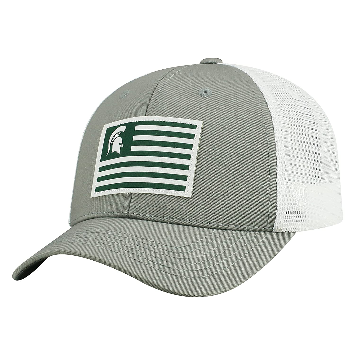 release date ba8b0 70322 Amazon.com   Top of the World Michigan State Spartans Official NCAA  Adjustable Brave Cotton Mesh Trucker Hat Cap 416335   Sports   Outdoors