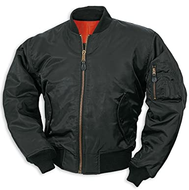 Surplus MA-1 Flight Jacket Black at Amazon Men s Clothing store  8557e846fa3