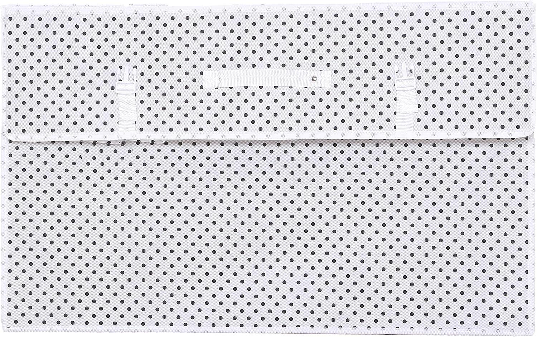 Hoesh International Simpson /& Ruxton White Polka Breathable Bridal Gown Dress Travel Storage Large Box With Acid Free Tissue Paper