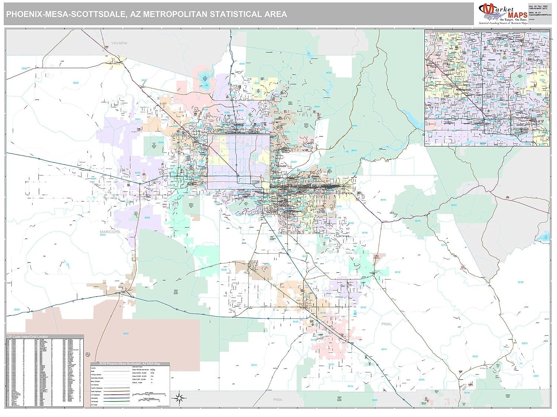 Amazon com: MarketMAPS Phoenix-Mesa-Scottsdale, AZ Metro