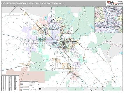Amazon.com: MarketMAPS Phoenix-Mesa-Scottsdale, AZ Metro Area Wall ...